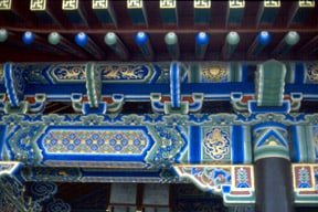Chinese tranditional roof beam patten