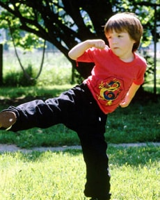 Photo of little karate boy
