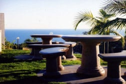 picnic tables at pepperdine