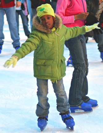 Photo of girls learning to ice skate