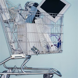 Photo of a computer in a cart